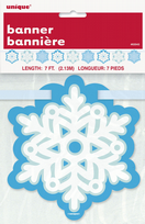 7ft Blue Snowflake Christmas Banner